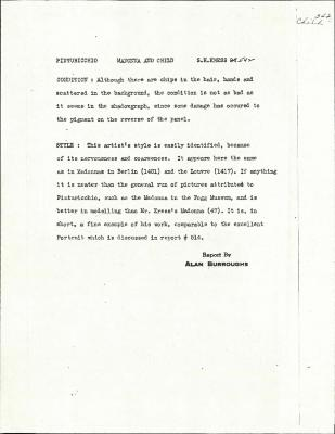 Image for K0542 - Alan Burroughs report, circa 1930s-1940s
