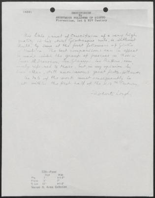 Image for K0539 - Expert opinion by Longhi, circa 1920s-1950s