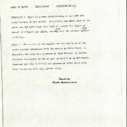Image for K0539 - Alan Burroughs report, circa 1930s-1940s