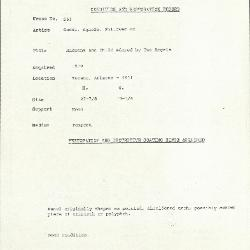 Image for K0563 - Condition and restoration record, circa 1950s-1960s
