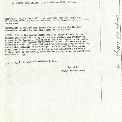 Image for K0056 - Alan Burroughs report, circa 1930s-1940s