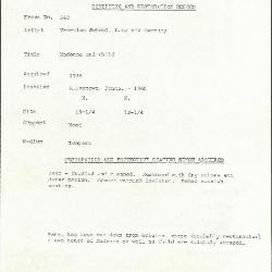 Image for K0560 - Condition and restoration record, circa 1950s-1960s
