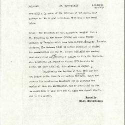 Image for K0544 - Alan Burroughs report, circa 1930s-1940s