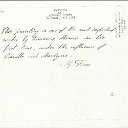 Image for K0055 - Expert opinion by Fiocco, circa 1930s-1940s