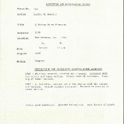 Image for K0554 - Condition and restoration record, circa 1950s-1960s