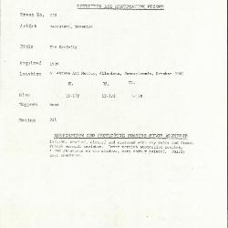 Image for K0559 - Condition and restoration record, circa 1950s-1960s