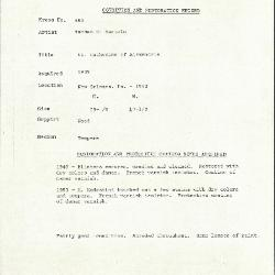 Image for K0553 - Condition and restoration record, circa 1950s-1960s