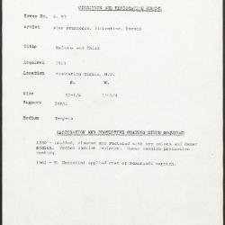 Image for K0057 - Condition and restoration record, circa 1950s-1960s