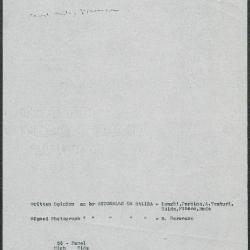 Image for K0058 - Art object record, circa 1930s-1950s
