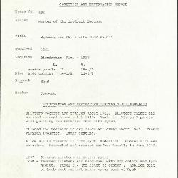 Image for K0592 - Condition and restoration record, circa 1950s-1960s