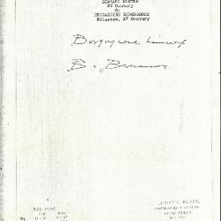 Image for K0578 - Expert opinion by Berenson, circa 1920s-1950s