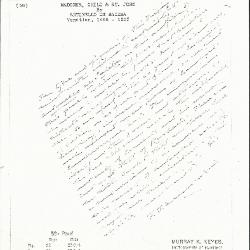 Image for K0058 - Expert opinion by Perkins, circa 1920s-1940s