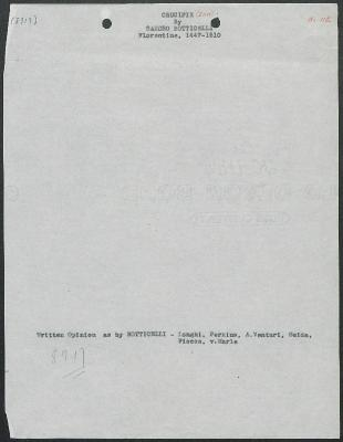 Image for K0591 - Art object record, circa 1930s-1950s