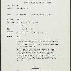 Image for K0584 - Condition and restoration record, circa 1950s-1960s