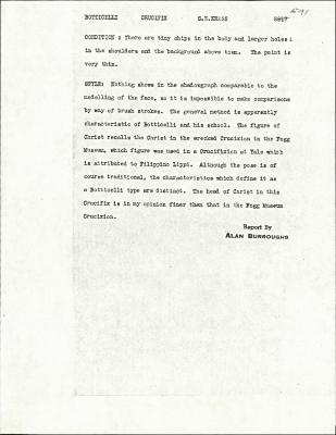 Image for K0591 - Alan Burroughs report, circa 1930s-1940s