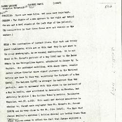 Image for K0594 - Alan Burroughs report, circa 1930s-1940s