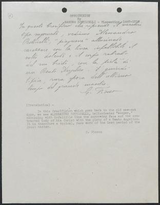 Image for K0591 - Expert opinion by Fiocco, circa 1930s-1940s