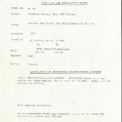 Image for K0065 - Condition and restoration record, circa 1950s-1960s
