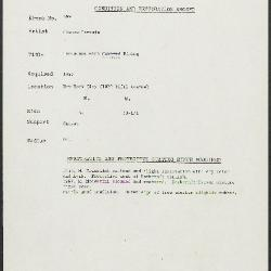 Image for K0599 - Condition and restoration record, circa 1950s-1960s