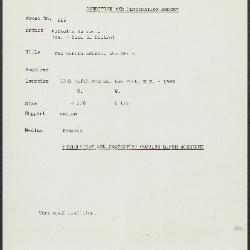 Image for K0616 - Condition and restoration record, circa 1950s-1960s