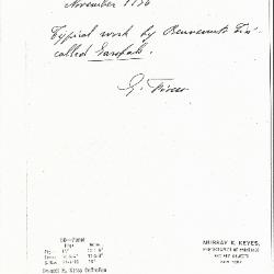 Image for K0060 - Expert opinion by Fiocco, 1936