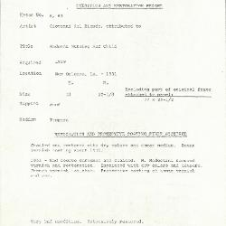 Image for K0063 - Condition and restoration record, circa 1950s-1960s