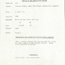 Image for K0594 - Condition and restoration record, circa 1950s-1960s