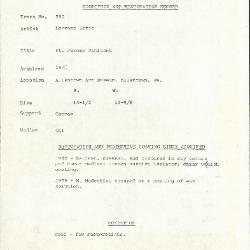 Image for K0595 - Condition and restoration record, circa 1950s-1960s
