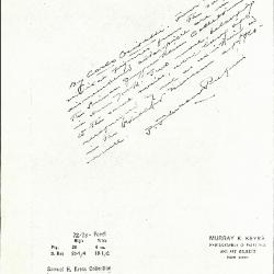 Image for K0072 - Expert opinion by Perkins, circa 1920s-1940s