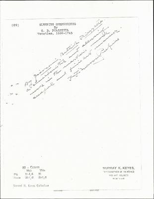 Image for K0089 - Expert opinion by Perkins, circa 1920s-1940s