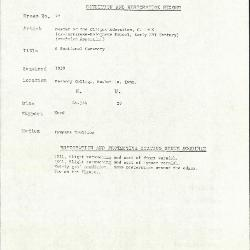 Image for K0078 - Condition and restoration record, circa 1950s-1960s