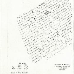 Image for K0074 - Expert opinion by Perkins, circa 1920s-1940s