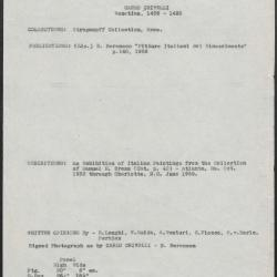 Image for K0072 - Art object record, circa 1930s-1950s