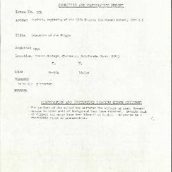 Image for KSF01 - Condition and restoration record, circa 1950s-1960s