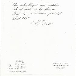 Image for K0091 - Expert opinion by Fiocco, circa 1930s-1940s