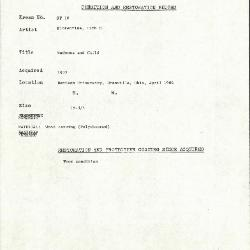 Image for KSF10 - Condition and restoration record, circa 1950s-1960s