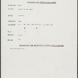 Image for K0097 - Condition and restoration record, circa 1950s-1960s