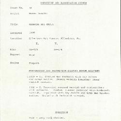 Image for K0091 - Condition and restoration record, circa 1950s-1960s