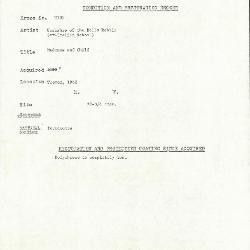 Image for KM109 - Condition and restoration record, circa 1950s-1960s