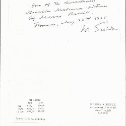 Image for K0091 - Expert opinion by Suida, 1935