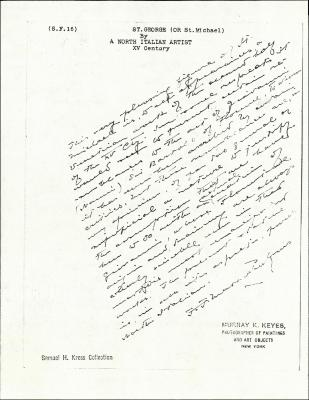 Image for KSF16 - Expert opinion by Perkins, circa 1920s-1940s