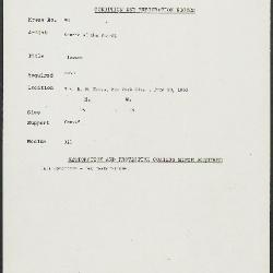 Image for K0098 - Condition and restoration record, circa 1950s-1960s
