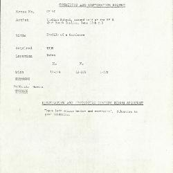 Image for KSF05I - Condition and restoration record, circa 1950s-1960s