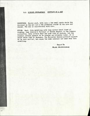 Image for K00X3 - Alan Burroughs report, circa 1930s-1940s