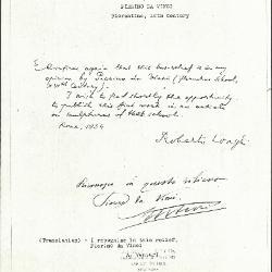 Image for KSF05E - Expert opinion by Longhi et al., 1934