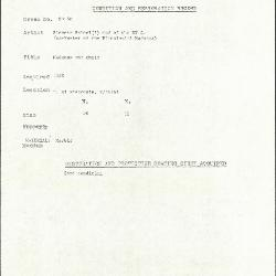 Image for KSF05D - Condition and restoration record, circa 1950s-1960s