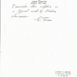 Image for KSF05A - Expert opinion by Fiocco, circa 1930s-1940s