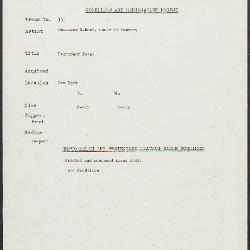 Image for K0136 - Condition and restoration record, circa 1950s-1960s