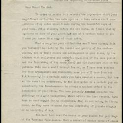 Image for Other documentation - Contini Bonacossi, Alessandro - memorandum, 1924