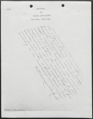 Image for K0341 - Expert opinion by Perkins, circa 1920s-1940s